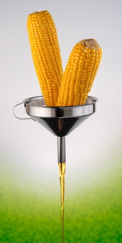 A concept of the bio-fuel from corn.