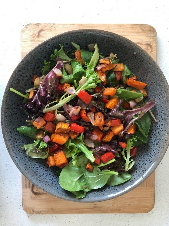 Roasted Vegetable Salad with Zingy Dressing